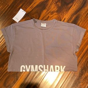 Gymshark Fraction Crop Top - Slate Lavende…